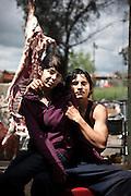 ©Stefano Meluni.06-05-2010 Roma.Campo Rom di Tor dei Cenci, il campo fu dato in uso a tre gruppi di famiglie, due Bosniache, una Macedone, dall'allora sindaco Rutelli Francesco. E' stato il primo campo attrezzato dove hanno spostato nel 2002 alcune famiglie dal Casilino 700..La famiglia Homerovic festeggia il Jurvejdan: giorno di San Giorgio patrono della popolazione Rom.