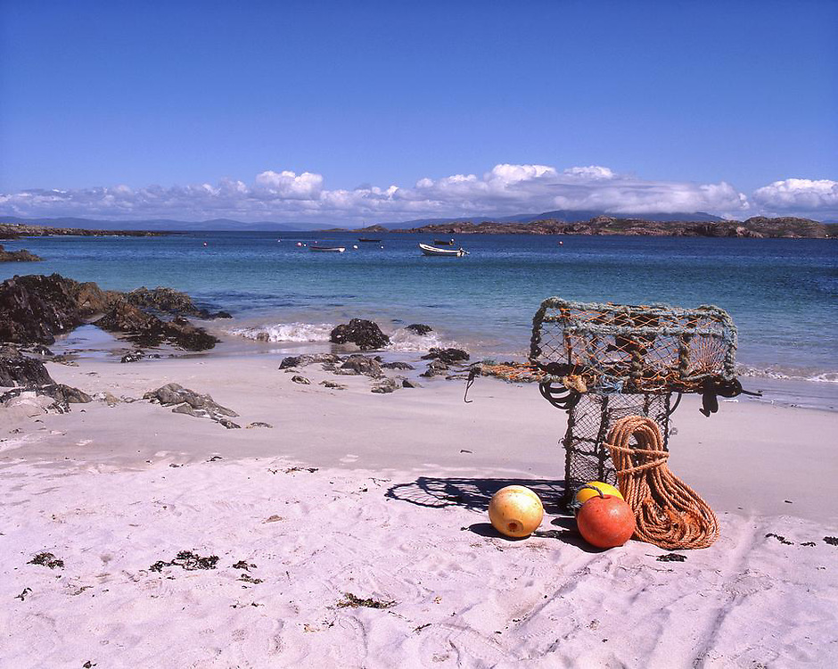 Sandy beach on the isle of Iona, Argyll