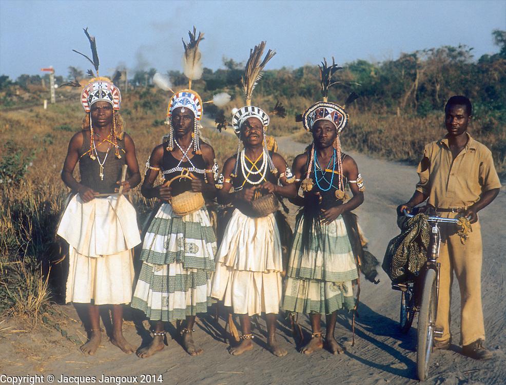 Luba diviners in ceremonial dress, Katanga Province, then Belgian Congo, now Democratic Republic of the Congo (1959)
