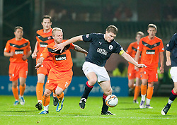 Johnny Russell and Darren Dods..Half-time. Dundee Utd 1 v 1 Falkirk. Scottish Communities League Cup, 25/10/2011..Pic © Michael Schofield.