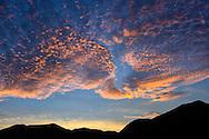 Mexico, Baja California sur, Baja, La Ventana, Sea of Cortez, red sky