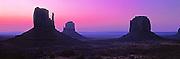 ARIZONA, MONUMENT VALLEY West Mitten, East Mitten and Merrick Butte