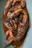 Peche chef Ryan Prewitt and BBQ shrimp