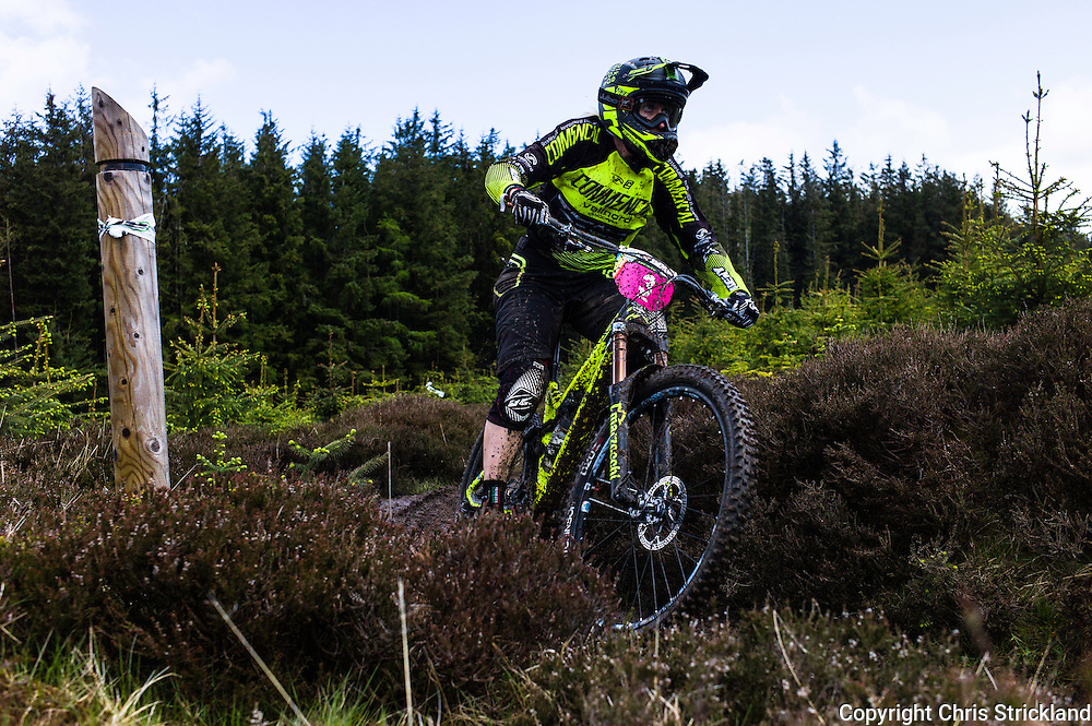 Glentress, Peebles, Scotland, UK. 31st May 2015. Cecile Ravanel finished third in the Enduro World Series Round 3 which took place on the iconic 7Stanes trails during Tweedlove Festival.