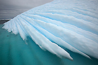 Close-up of an iceberg's detail.