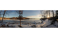 Winter Panorama, Highland Lakes New Jersey.