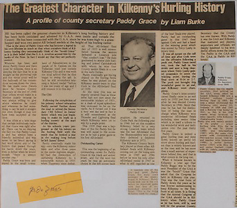 The Greatest Character in Kilkenny's Hurling History, Paddy Grace,