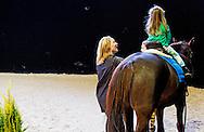 AMSTERDAM - Prinses Margarita  met dochter Paola tijdens de jumping amsterdam 2015  .  COPYRIGHT ROBIN UTRECHT