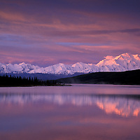 Mount McKinley, Wonder Lake, Denali National Park Preserve,Alaska, USA