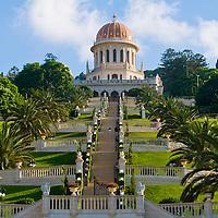 The Bahai gardens in Haifa north Israel