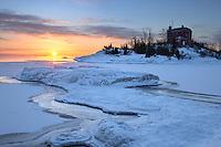 A frigid sunrise at McCartys Cove<br /> Marquette, Michigan