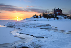 A frigid sunrise at McCartys Cove<br />