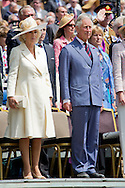 17-6-2015 - Hougoumont Farm - Camilla Duchess of Cornwall, Prince Charles and Princess Astrid and Countess Stephanie de Lannoy / Prince Guillaume of Luxembourg and Prince Pieter-Christiaan d'Orange-Nassau from the netherlands Commemoration of the Bicentenary of the Battle of Waterloo. Hougoumont Farm, Braine-l ' Alleud, Belgium - 17 Jun 2015