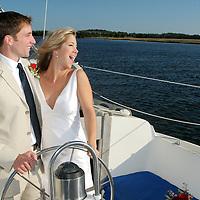 Bride and Groom sailboat ride