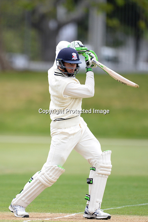 Auckland Aces' Martin Guptill in action during the Auckland Aces v Canterbury Plunket Shield 4 Day Domestic Cricket Game at Eden Park No 2, Auckland. Sunday 18 October 2015. Copyright Photo: Raghavan Venugopal / www.photosport.nz