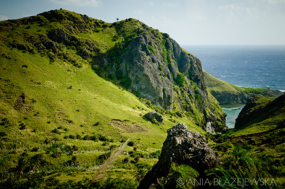 Philippines, Batanes. Landscape of Sabtang, a remote island in the ...