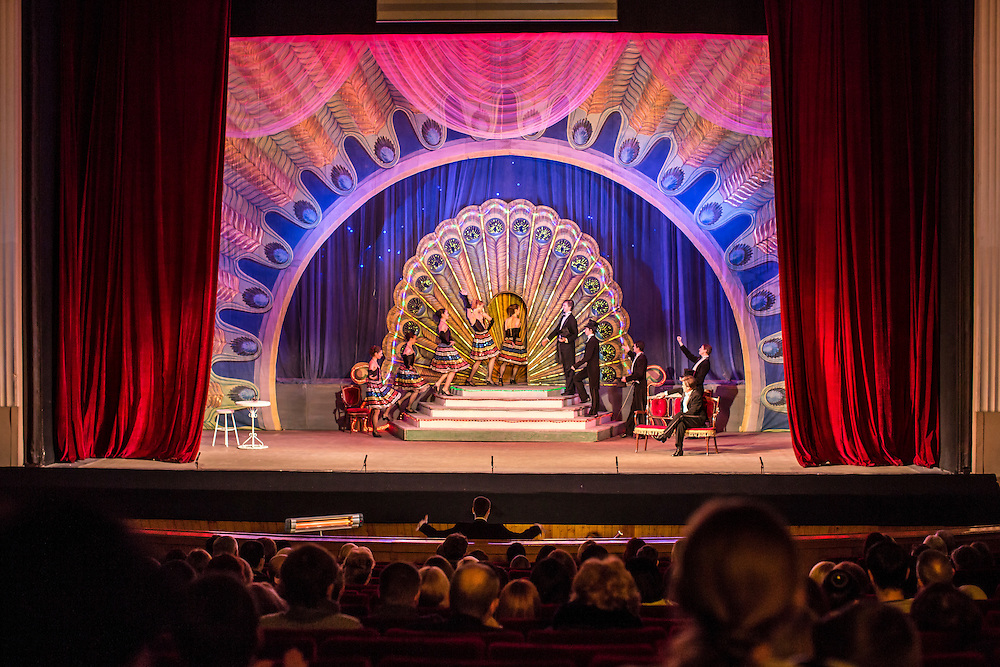 DONETSK, UKRAINE - FEBRUARY 1, 2015: The Donetsk National Academic Opera and Ballet Theatre performs The Gypsy Princess in Donetsk, Ukraine. The opera company kicked off a new season in October, despite a separatist insurgency in Eastern Ukraine that has killed more than 5000 people. CREDIT: Brendan Hoffman for The New York Times
