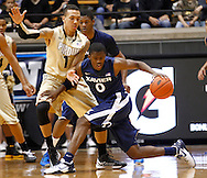 WEST LAFAYETTE, IN - DECEMBER 01: Semaj Christon #0 of the Xavier Musketeers dribbles the ball against Anthony Johnson #1 of the Purdue Boilermakers at Mackey Arena on December 1, 2012 in West Lafayette, Indiana. Xavier defeated Purdue 63-57. (Photo by Michael Hickey/Getty Images) *** Local Caption *** Semaj Christon; Anthony Johnson