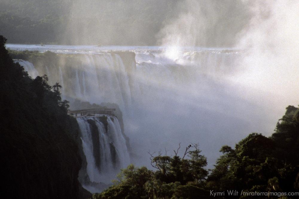 South America, Argentina, Iguacu Falls. Mist of Iguacu Falls.