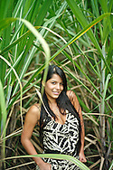 Model released photograph of a Colombian woman in her twenties