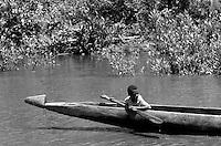 Elladen river journey, west papua