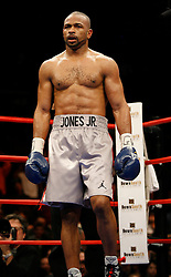January 19, 2008; New York, NY, USA;  Roy Jones Jr. before his 12 round light heavyweight bout against Felix Trinidad at Madison Square Garden in New York, NY. Jones Jr. won the bout via unanimous decision .