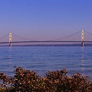&quot;Span of Mackinac Bridge&quot;<br /> <br /> Beautiful Mackinac Bridge spanning the straits of Mackinac from McGulpin Point.