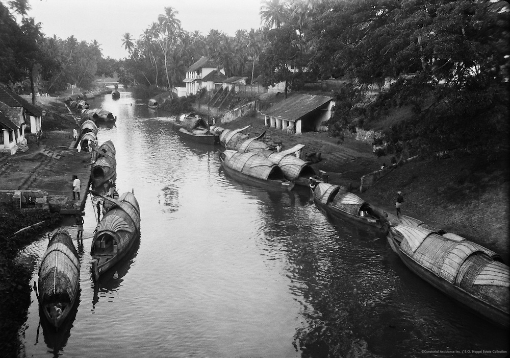 Canal Scene, Quilon, India, 1929