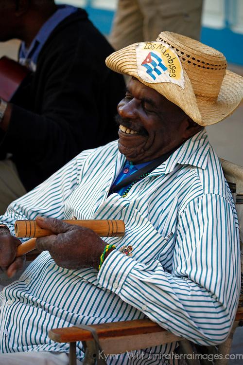 Central America, Cuba, Havana. Los Mambises Musician in Old Havana.