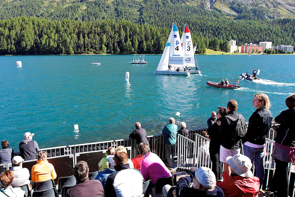 St Moritz Match Race 2010. World Match Racing Tour. St Moritz, Switzerland. 1st September 2010. Photo: Ian Roman/Subzero Images