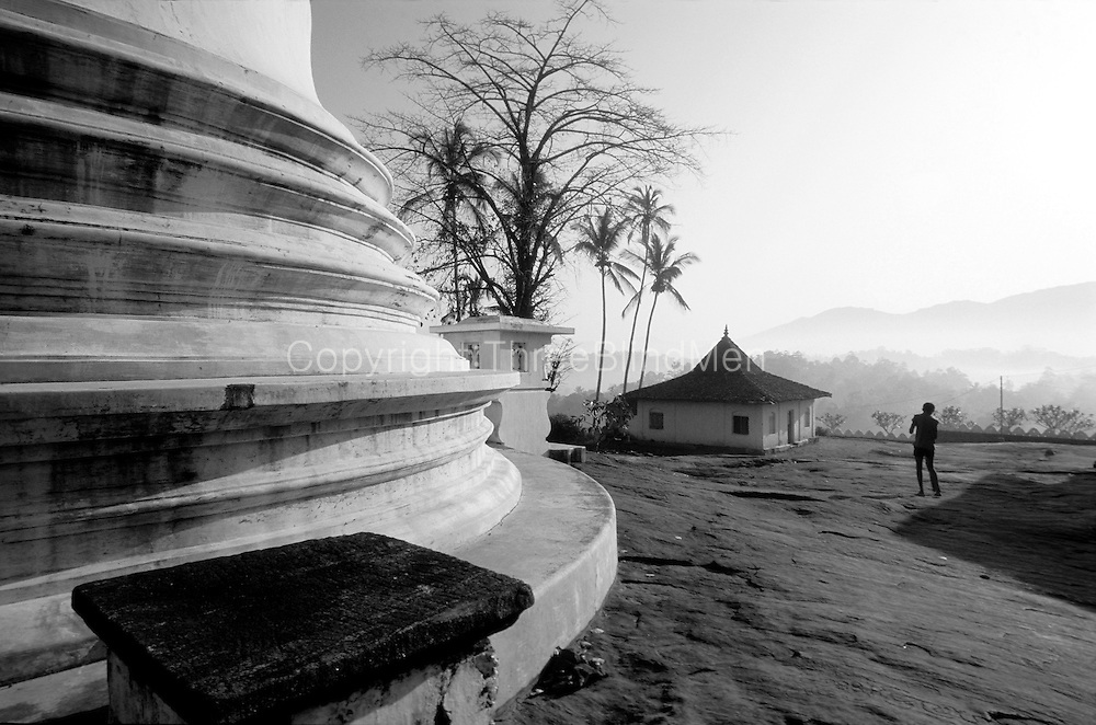 Morning at Lankatileka temple, a few kilometres out of Kandy town.