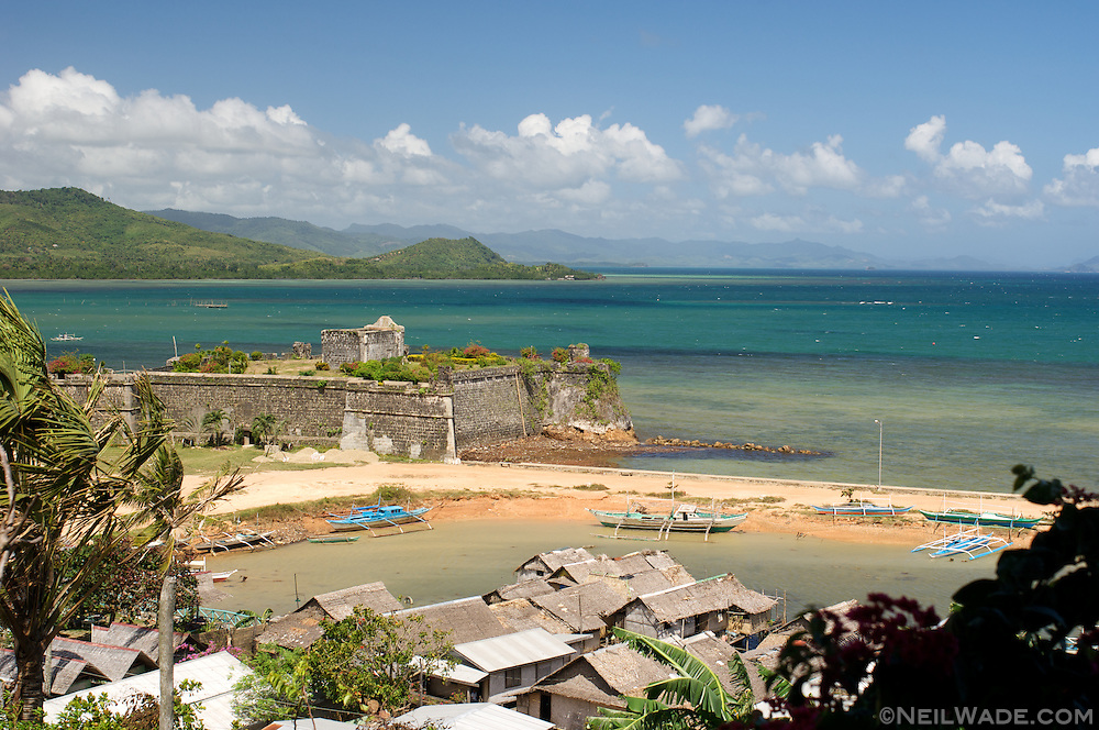 The old Spanish fort in Taytay, on the Philippines island of Palawan.