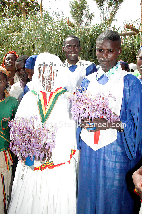 Africa, Ethiopia, Konso Christian wedding