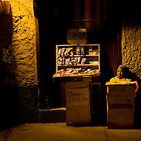Evening vendor in Cartagena, Colombia ..Photo by Robert Caplin..
