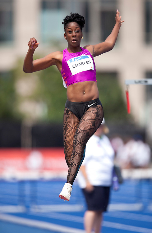 Toronto, Ontario ---10-07-31--- Tabia Charles competes in the long jump at the 2010 Canadian Track and Field Championships in Toronto, Ontario July 31, 2010.<br />  GEOFF ROBINS/Mundo Sport Images