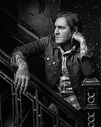 Brian Fallon of The Gaslight Anthem poses for a pre-show portrait at Webster Hall in Manhattan, NY, USA on 26 February 2015.