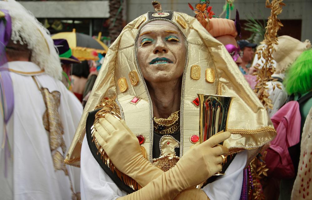 Krewe of St. Ann Member, Mardi Gras, New Orleans 2008