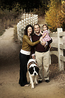 21 November 2009:  Brad, Bridgit, Charlotte and Dolche Friedman together for a family photo session in Coto De Caza, CA.   Personal use only.