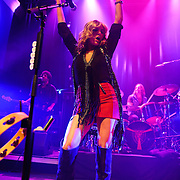 WASHINGTON, DC - October 22nd, 2012 - Michael Libramento, Grace Potter and Matt Burr of Grace Potter and the Nocturnals perform during the first of four concerts booked this week at the 9:30 Club in Washington, D.C. The band released their fourth album, The Lion the Beast the Beat, in June. (Photo by Kyle Gustafson/For The Washington Post)