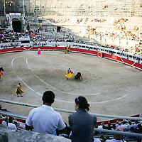 20110909 - Arles,  - A bullfight inside the amphitheatre of Arles France.  Photo by Matthew Healey