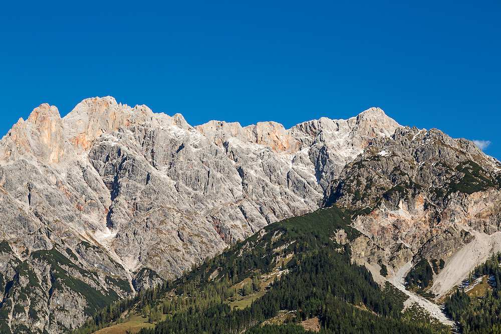 A view towards the Hochkonig in the Austrian Alps