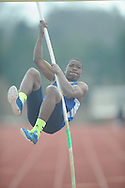 Oxford High's Courtland Barnes pole vaults at The Oxford Eagle Invitational track meet at Oxford High School in Oxford, Miss. on Saturday, March 9, 2013.