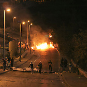 clashes between Arabs and Israeli border police in the Arab neighborhood of Issawiyah in East Jerusalem..30th of nov` 2010.  Photo by Oren Nahshon.