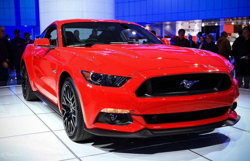 &quot;2015 Mustang in Red&quot; 2<br /> <br /> The beautiful 2015 Ford Mustang from the Detroit NAIAS&quot;<br /> <br /> Cars and their Details by Rachel Cohen