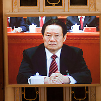 BEIJING, NOV 8, 2012 : Zhou Yongkang, a member of the Standing Committee of the Polit Bureau,  attends the 18th Party Congress of the CPC ( Communist Party Of China ).   He used to be a Minister of Public Security until 2007.
