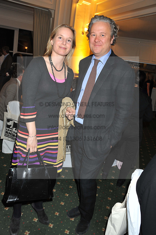 JAMIE & MEL LEARMOND he is the founder of juice bar chain Crussh at a dinner in aid of the charity Save The Rhino held at ZSL London Zoo, Regents Park, London on 16th October 2012.