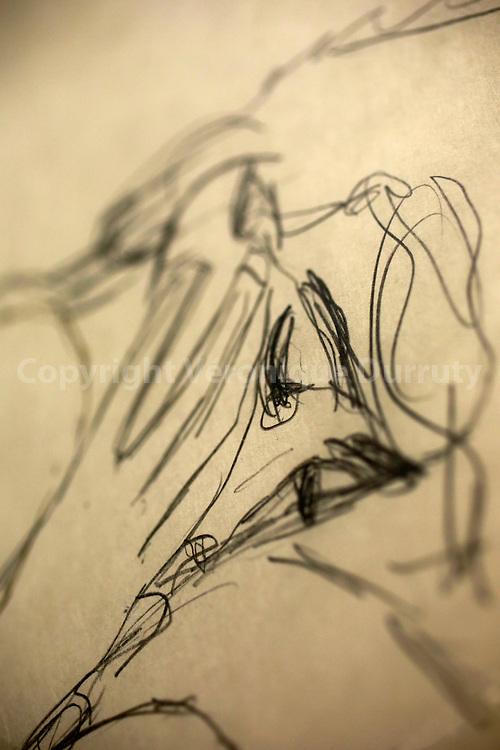 """Gustav Klimt, Vorgebeugt sitzender weiblicher Akt. Studie zu """"leda"""", 1913, 1914 ( seated female Nude Leaning Forward. Study for """"leda"""" ),  Leopold Museum, Vienna, Austria // Gustav Klimt, Vorgebeugt sitzender weiblicher Akt. Studie zu """"leda"""", 1913, 1914 ( nu feminin, etude pour """"leda"""" ),Musee Leopold, Vienne, Autriche"""