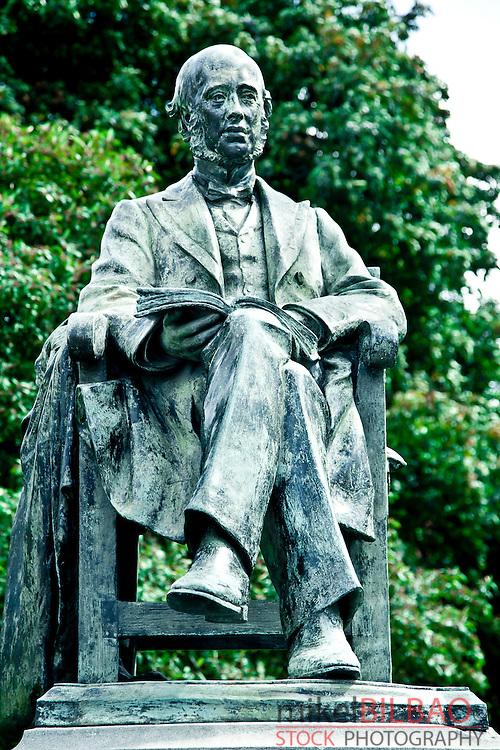 Weh Lecky statue. Parliament Square. Trinity College. University of Dublin.<br /> Dublin. Ireland.