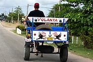 Horse and cart in Rafael Freyre, Holguin, Cuba.