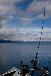 """Fishing Pole on Lake Tahoe 6"" - This fishing pole was photographed on the West shore of Lake Tahoe."